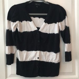 Black and white button up cardigan